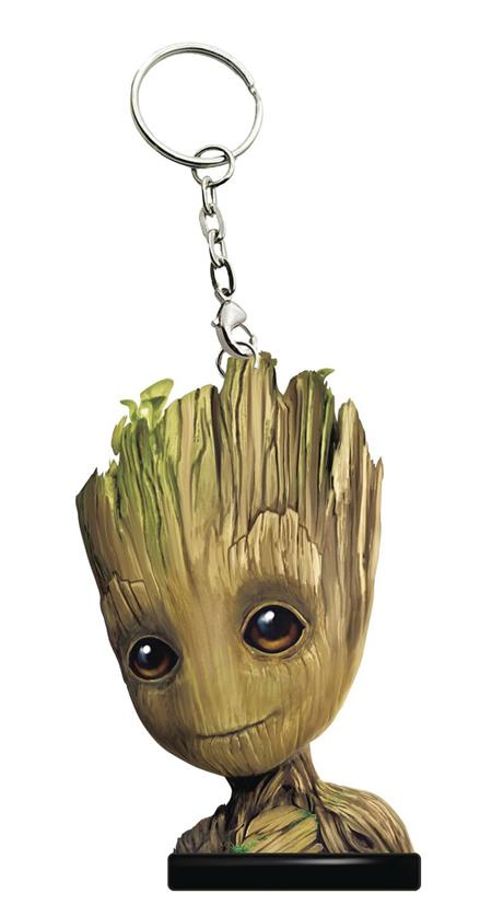 GUARDIANS OF THE GALAXY VOL2 GROOT HEAD KEYCHAIN (C: 1-1-2)