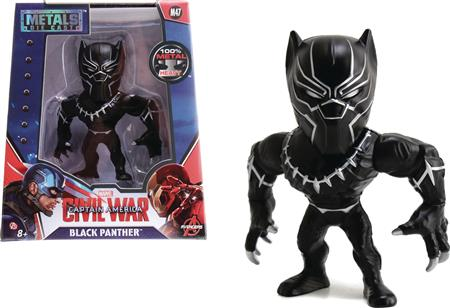 METALS MARVEL CIVIL WAR BLACK PANTHER 4IN DIE-CAST FIG (Net)