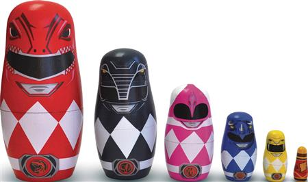 POWER RANGERS WOOD NESTING DOLL SET (C: 1-1-1)