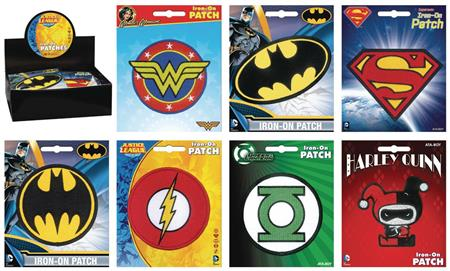 DC COMICS IRON ON PATCH 30PC ASST (Net) (C: 1-1-2)