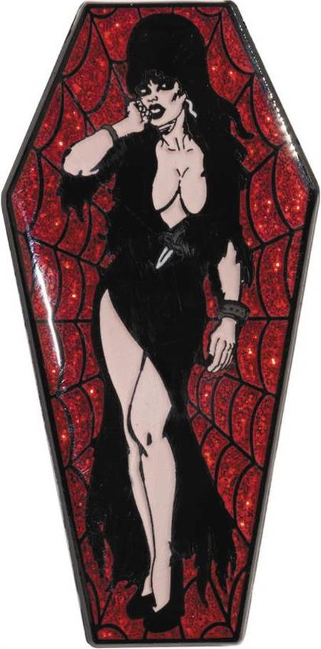 ELVIRA RED COFFIN LAPEL PIN (C: 1-0-2)