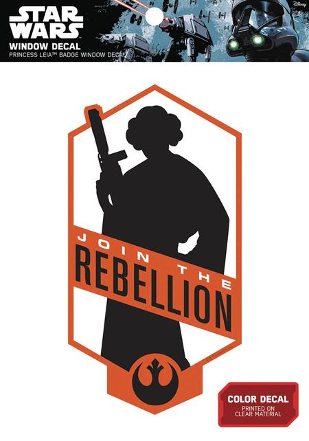 STAR WARS PRINCESS LEIA JOIN THE REBELLION WINDOW DECAL (C: