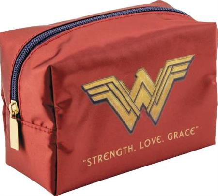DC WONDER WOMAN RED SQUARE COSMETIC CASE (C: 1-1-2)