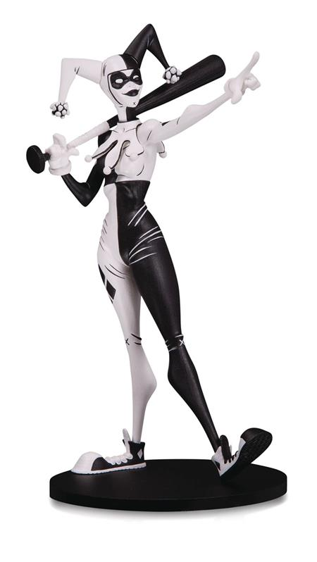 DC ARTIST ALLEY HARLEY B&W VINYL FIG NOOLIGAN