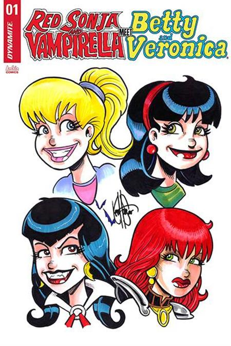 RED SONJA VAMPIRELLA BETTY VERONICA #1 4 CHAR RMRK (C: 0-1-2