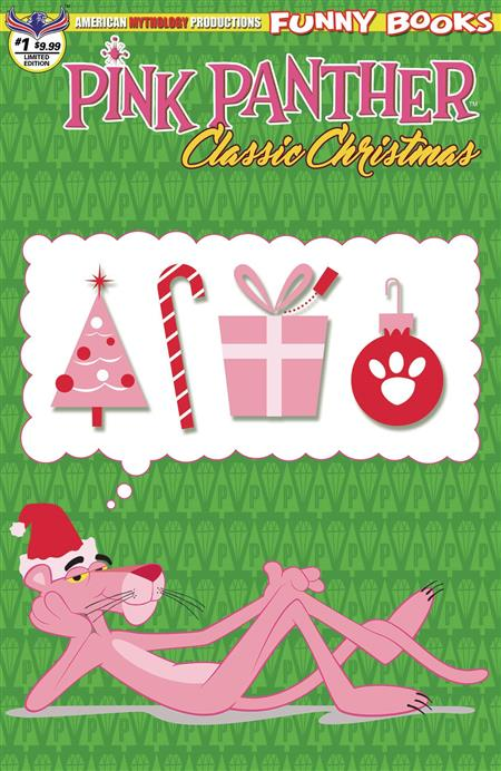 PINK PANTHER CLASSIC CHRISTMAS #1 LTD ED RETRO ANIMATION CVR