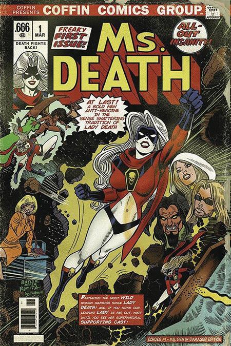LADY DEATH SWORN #1 MS DEATH DAMAGED ED