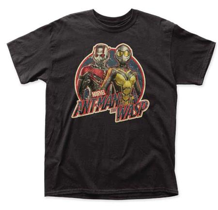 MARVEL ANT-MAN AND THE WASP ANTIQUE LOGO T/S LG (C: 1-1-2)