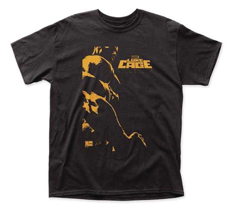 MARVEL LUKE CAGE YELLOW LOGO T/S LG (C: 1-1-2)