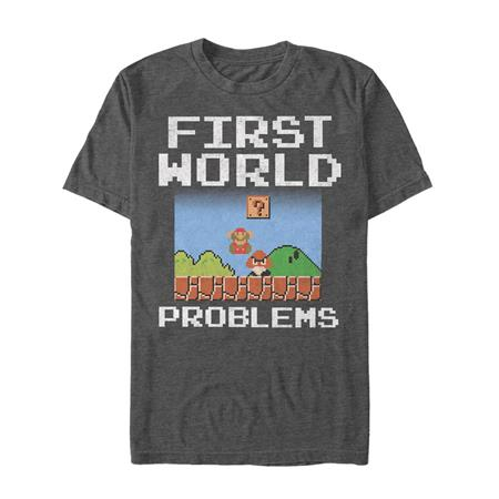 SUPER MARIO FIRST WORLD PROBLEMS T/S LG (C: 1-1-0)