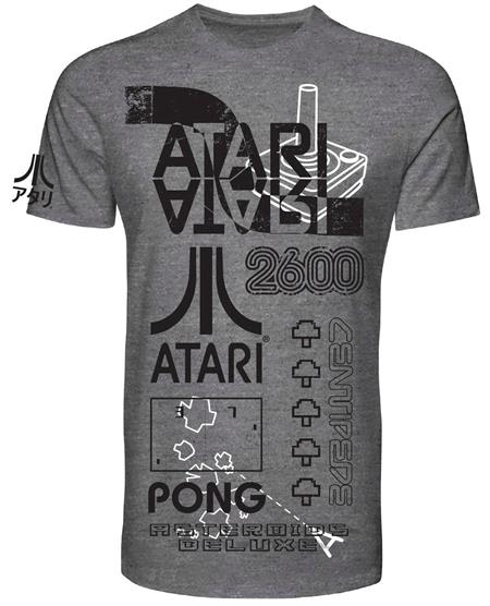 ATARI BLACK AND WHITE SCREEN PRINT T/S LG (C: 1-1-2)