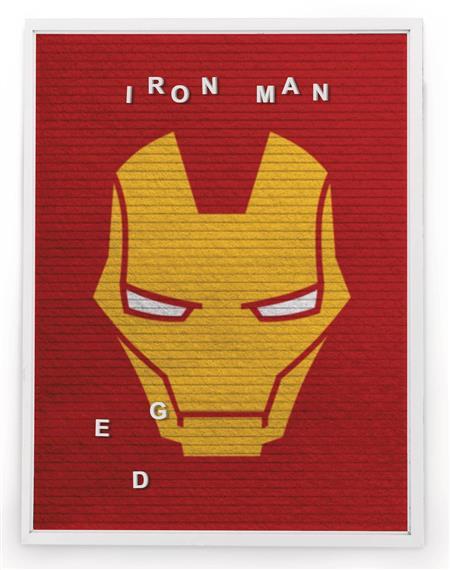 MARVEL IRON MAN 13X17.5 IN FELT LETTER BOARD WALL ART (C: 1-