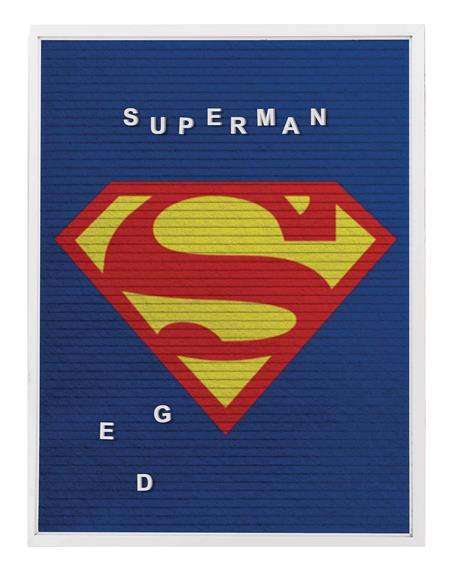 DC SUPERMAN 13X17 FELT LETTER BOARD WALL ART (C: 1-1-2)