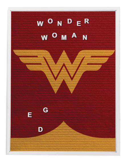 DC HEROES WONDER WOMAN 13X17.5 IN FELT LETTER BOARD WALL ART
