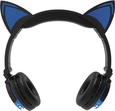 HYPE WIRELESS LED CAT EAR HEADPHONES BLUE (C: 0-0-1)