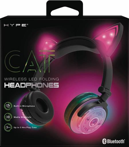 HYPE WIRELESS LED CAT EAR HEADPHONES PINK (C: 0-0-1)