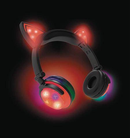 HYPE WIRELESS LED CAT EAR HEADPHONES RED (C: 0-0-1)