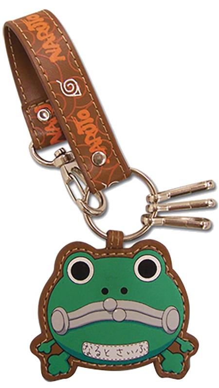 NARUTO FROG PURSE LEATHER KEYCHAIN (C: 1-1-2)