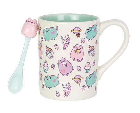 OUR NAME IS MUD PUSHEEN MUG WITH SPOON SET (C: 1-1-2)