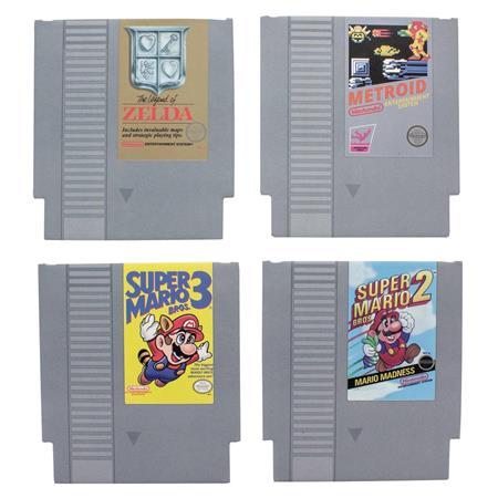 NES GAME CARTRIDGE COASTERS 8PK (C: 0-1-2)