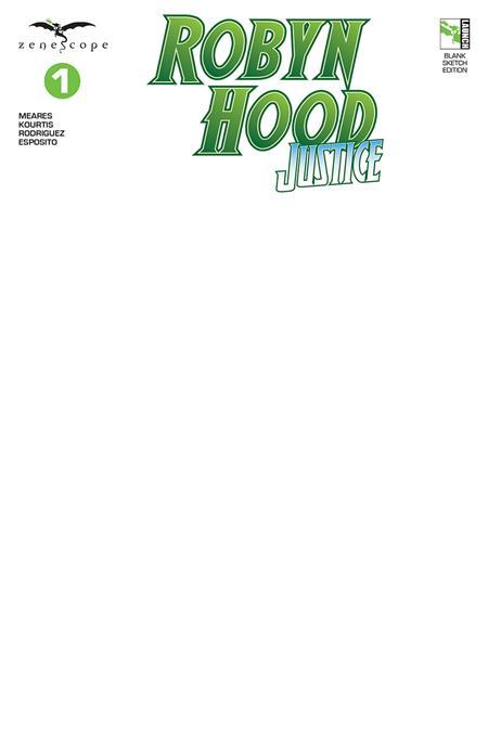 ROBYN HOOD JUSTICE #1 CVR F BLANK SKETCH