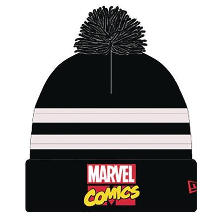 MARVEL COMICS LOGO PX BLK & WHITE POM KNIT CAP (C: 1-1-2)