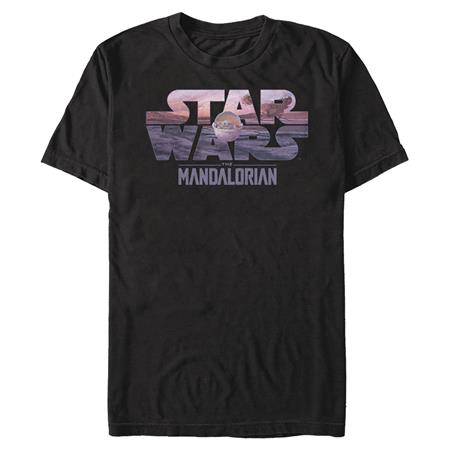 STAR WARS THE MANDALORIAN LOGO WITH THE CHILD T/S MED (C: 1-