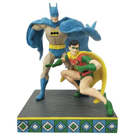 JIM SHORE DC COMICS BATMAN AND ROBIN 8IN FIGURINE (C: 1-1-2)