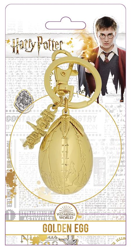 HARRY POTTER GOLDEN EGG PEWTER KEY RING (C: 1-1-2)