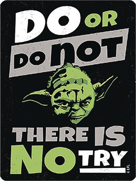 STAR WARS DO OR DO NOT METAL MAGNET (C: 1-1-2)