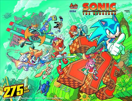 Sonic the Hedgehog #275 Wells Wrap Var   NEW!!!