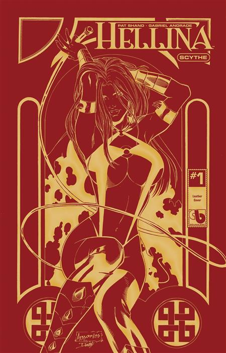 HELLINA SCYTHE #1 GOLDEN FIRE LEATHER (MR) (C: 0-0-1)