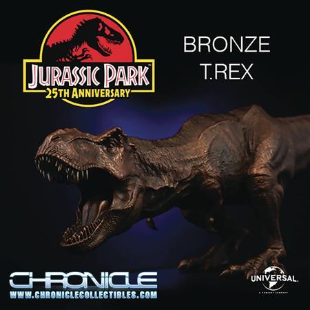 CHRONICLE JURASSIC PARK BRONZE T-REX STATUE (Net) (C: 1-1-2)