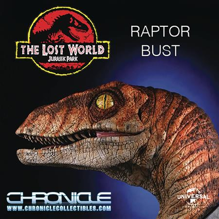 CHRONICLE JURASSIC PARK MALE RAPTOR 1/1 SCALE BUST (Net) (C: