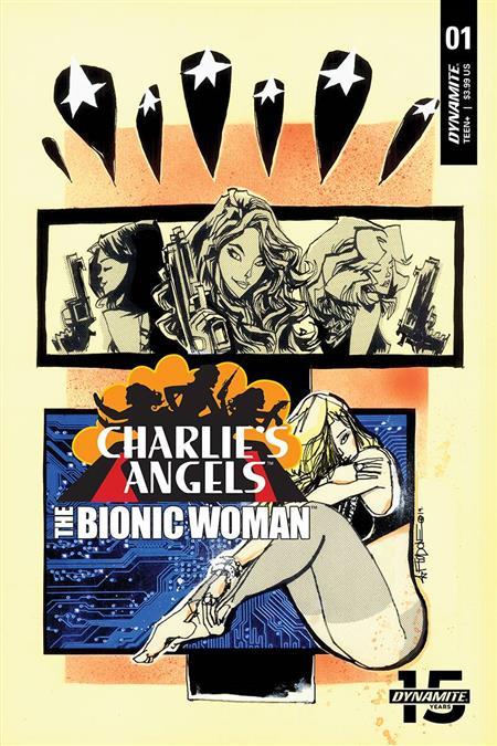 CHARLIES ANGELS VS BIONIC WOMAN #1 CVR B MAHFOOD