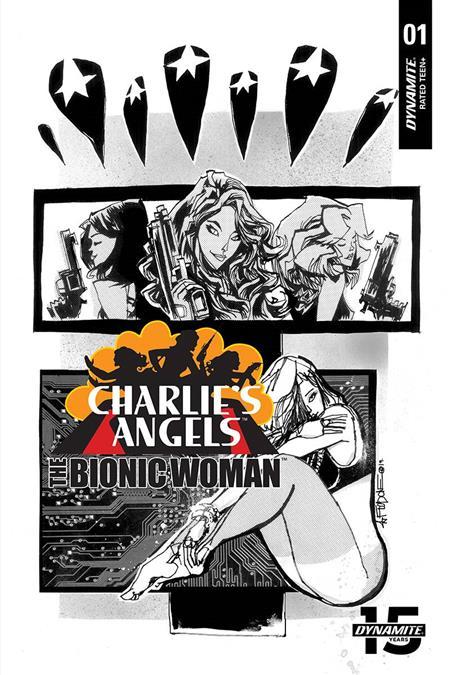 CHARLIES ANGELS VS BIONIC WOMAN #1 10 COPY MAHFOOD B&W INCV