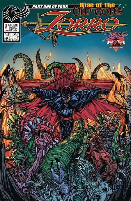 ZORRO RISE OF THE OLD GODS #1 CVR B LOVECRAFTIAN CALZADA