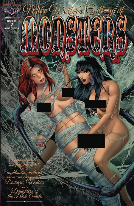 MIKE WOLFERS GALLERY OF MONSTERS #1 NUDE COVER (MR)