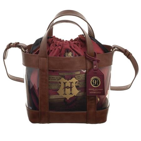 HARRY POTTER HOGWARTS CLEAR TOTE W/CINCH BAG (C: 1-0-2)