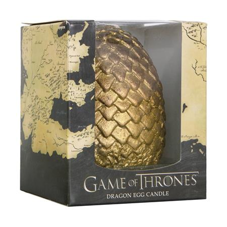 GAME OF THRONES SCULPTED DRAGON GOLD EGG CANDLE (C: 1-1-2)
