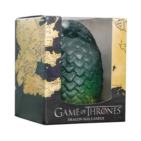 GAME OF THRONES SCULPTED DRAGON GREEN EGG CANDLE (C: 1-1-2)