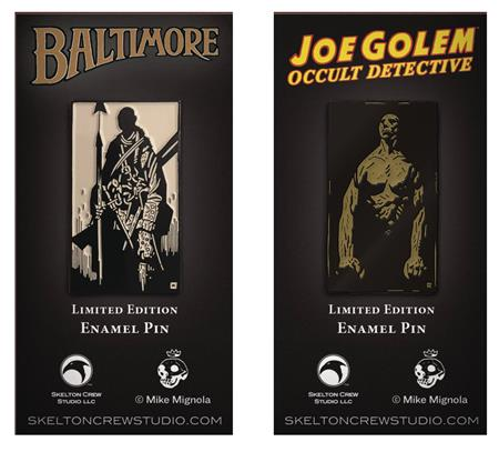 MIGNOLA JOE GOLEM & LORD BALTIMORE LTD ED ENAMEL PIN SET (C: