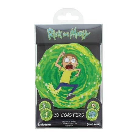 RICK AND MORTY 3D COASTERS 4PK (C: 0-1-2)