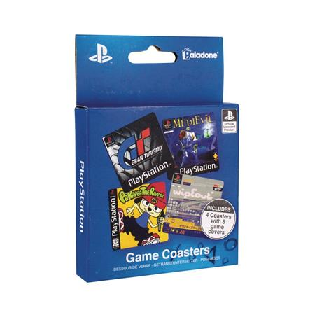 PLAYSTATION GAME COASTERS 4PK (C: 0-1-2)