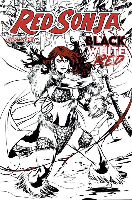 RED SONJA BLACK WHITE RED #1 CVR B LUPACCHINO