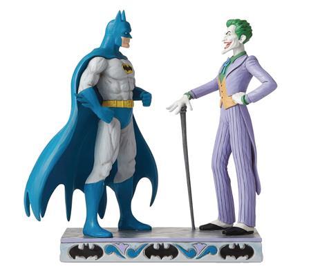 JIM SHORE DC COMICS BATMAN VS THE JOKER 9.25IN FIG (C: 1-1-2
