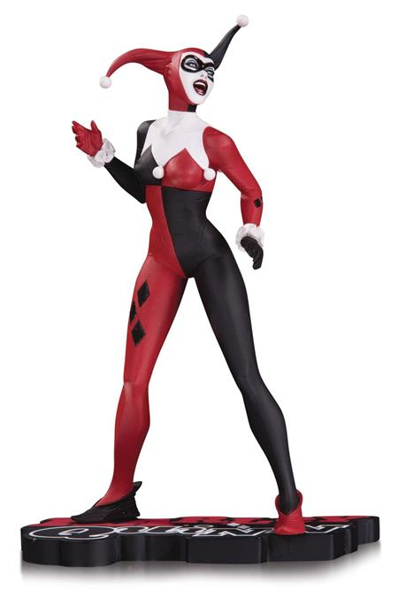 HARLEY QUINN RED WHITE & BLACK STATUE BY BY JAE LEE