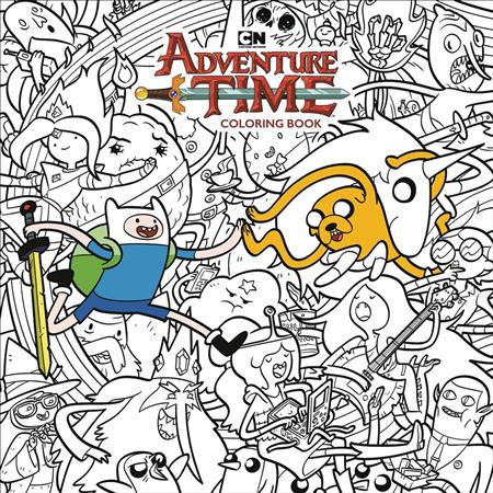 Adventure Time Adult Coloring Book TP (C: 1-0-0) - Discount Comic ...