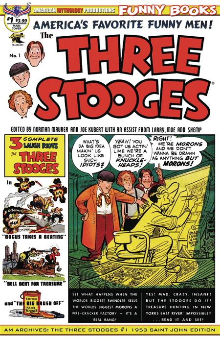 AM ARCHIVES THREE STOOGES #1 1953 SAINT JOHN EDITION