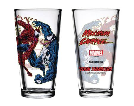 TOON TUMBLERS MARVEL COMIC MAXIMUM CARNAGE PINT GLASS (C: 1-